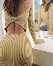 Ribbed Bodycon Cutout Mini Dress