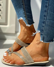 Studded Toe Ring Casual Sandals