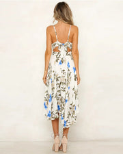 Floral V-Neck Cami Midi Dress