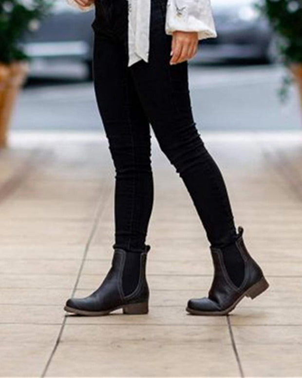 Low Heeled Chelsea Ankle Boots