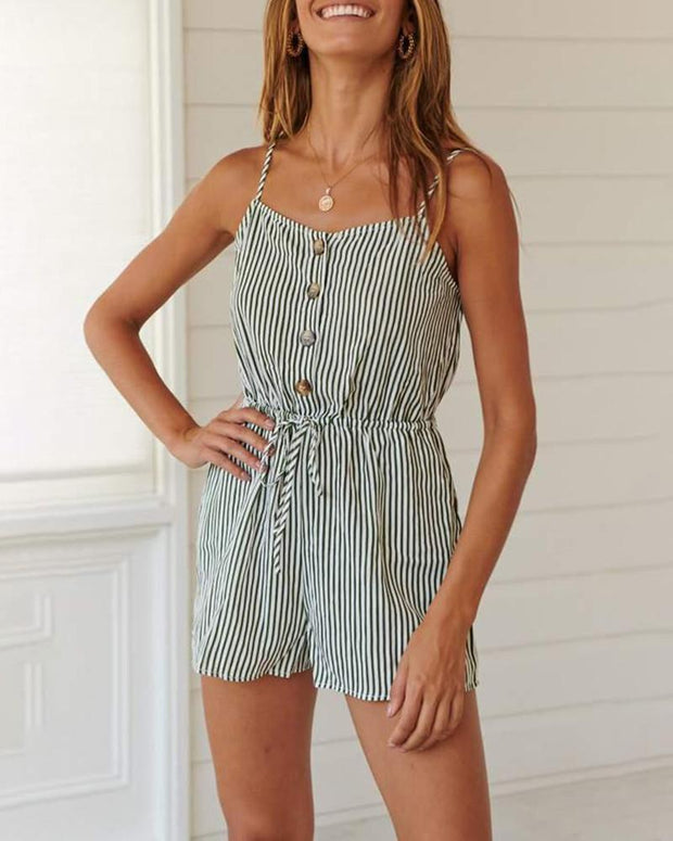 Fashion striped slip women's jumpsuit