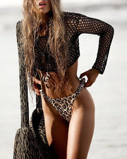 Fishing Net Crochet Two-Piece Cover Up