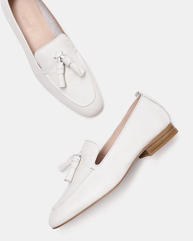 Square Toe Tassel Loafers