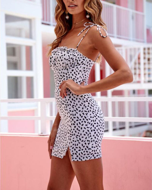 Dotted Bodycon Cami Drss