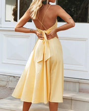 V-Neck Surplice Maxi Dress