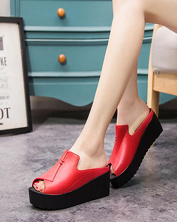 women's Open toe Hollow casual flat sandals