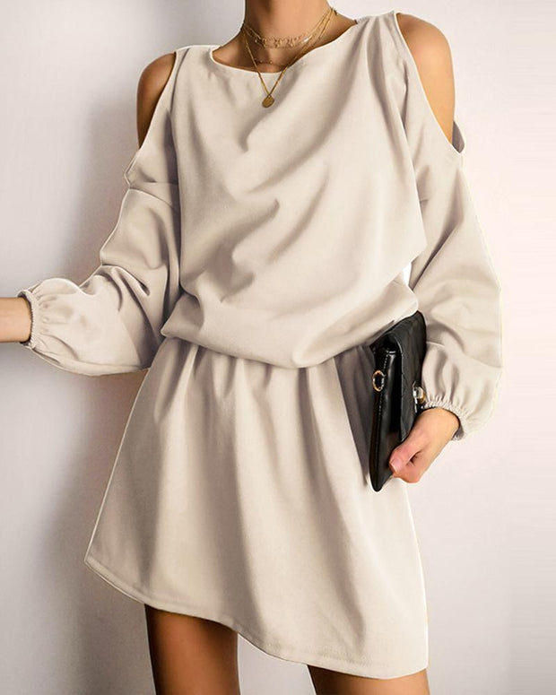 Cold Shoulder Mini Dress