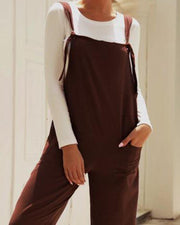 Oversized Strap Jumpsuit
