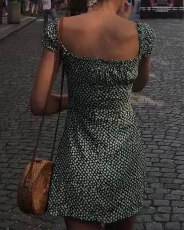Backless Dotted Dress