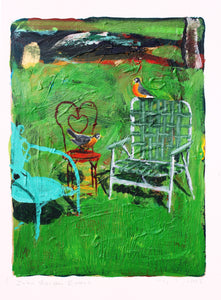 Chairs and Robins - 12.5x9in