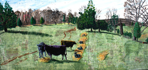 Cows and Calves Diptych