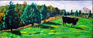 Black Angus Triptych - 20.5x49.5in
