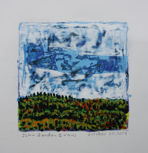 Mountain and Cloud - 5x5in