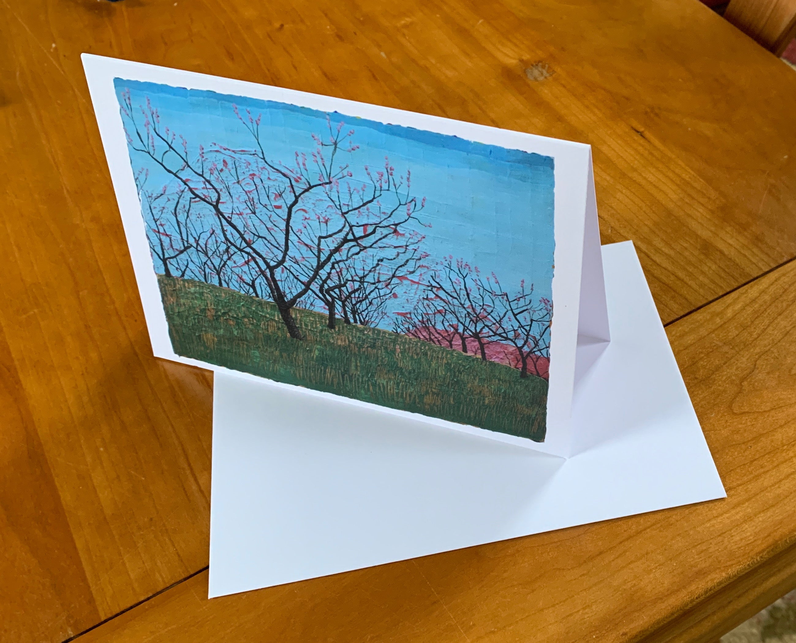 Peach Orchard Greeting Card