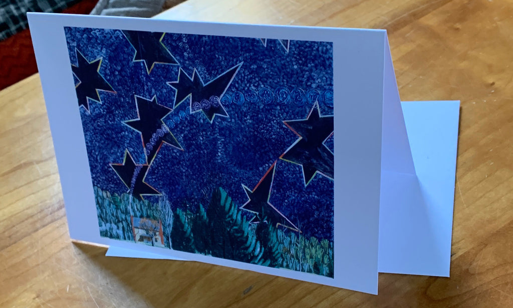 Stars and Smoke Diptych Greeting Card