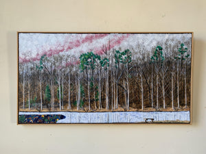 Ice at Walnut Creek Park Diptych - 24.5x46.5in