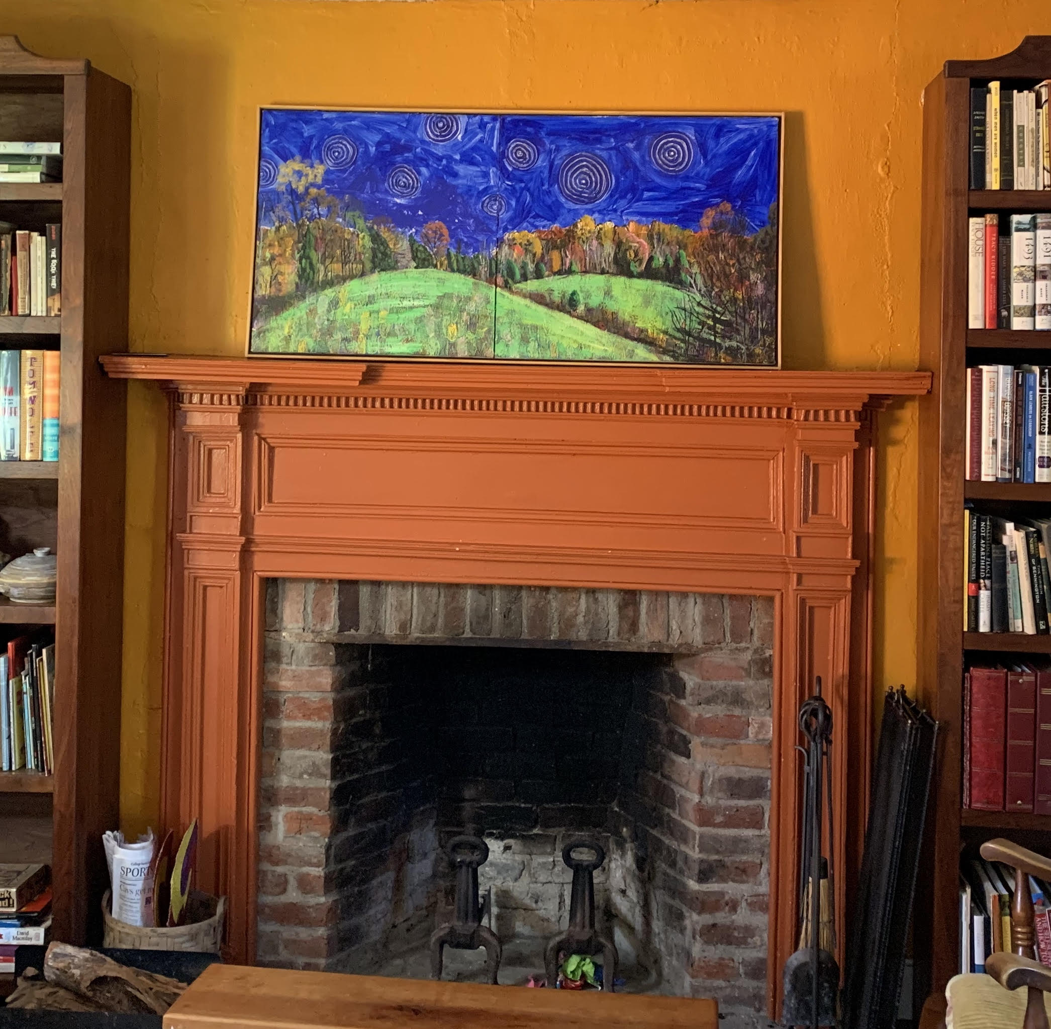 Eight Stars Diptych - 23x48in