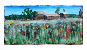 Solitude Barns - 7.5x14in
