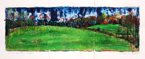 View from Kitchen Triptych - 5x15in