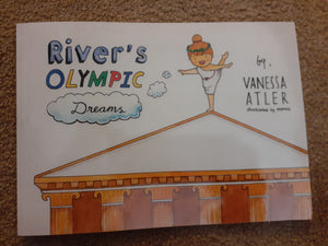 Autographed River's Olympic Dreams- By Vanessa Atler - gymnastics children/Autograph book