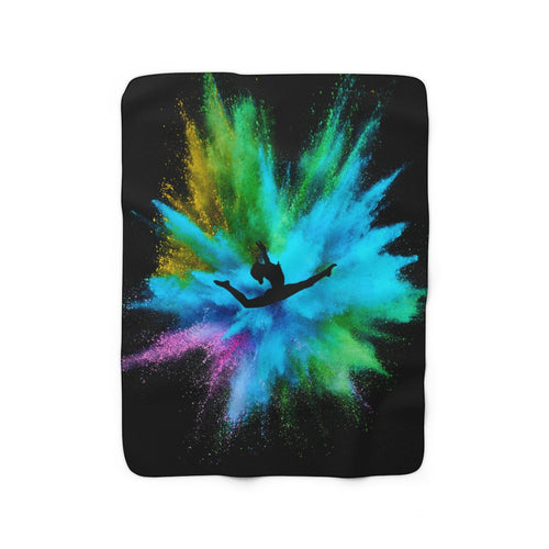 Gymnast Sherpa Fleece Blanket