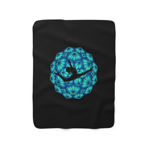 Gymnast Leap Sherpa Fleece Blanket