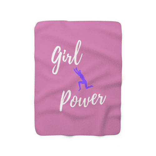 Girl Power Sherpa Fleece Blanket