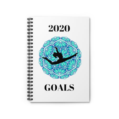 2020 Gymnastics Goals Spiral Notebook - Ruled Line