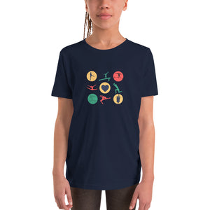 Gymnastics Love Youth Short Sleeve T-Shirt