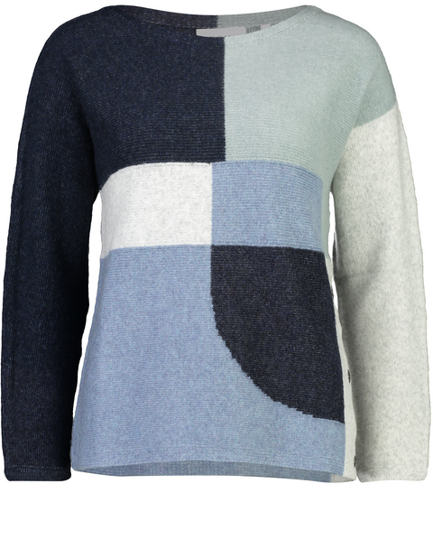 Denim Mix Pieced Together Jumper
