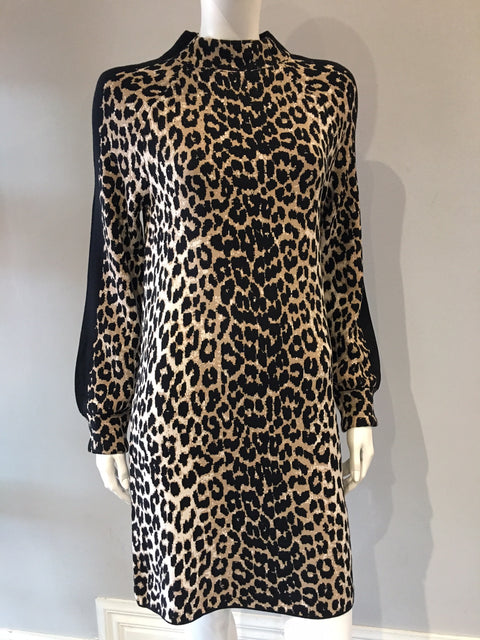 Knit Leopard Print Dress