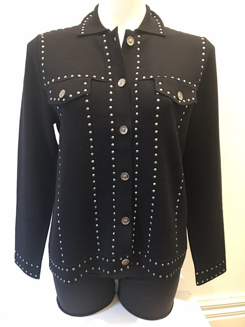 Knit Jacket With Stud Feature