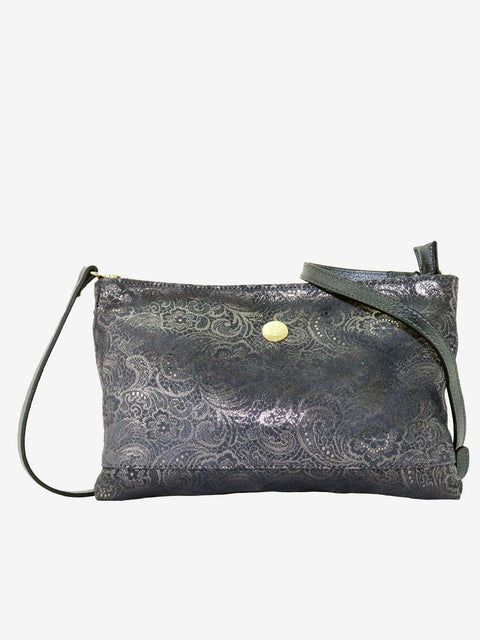 Brooke Silver Grey Paisley Bag