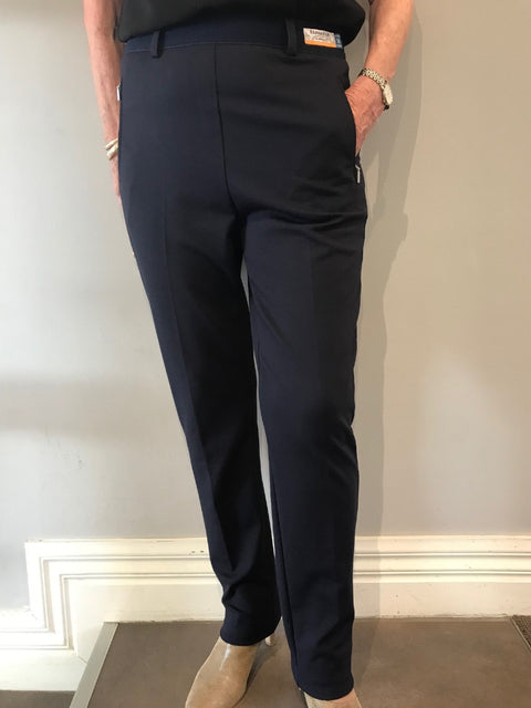 Lillyth Navy Pull On Pant