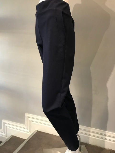 Navy Pull On Side Pocket Slim Ponti