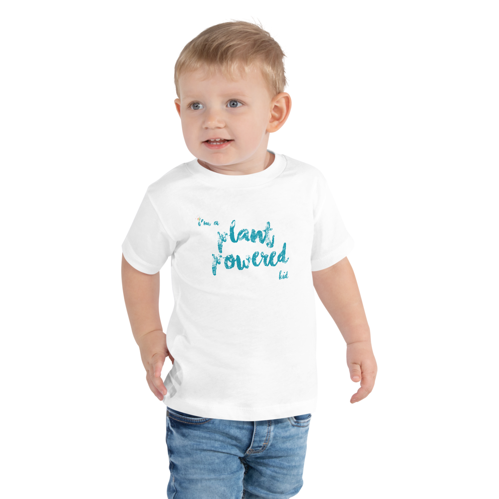 """I'm a Plant Powered Kid"" Toddler Short Sleeve T-shirt"