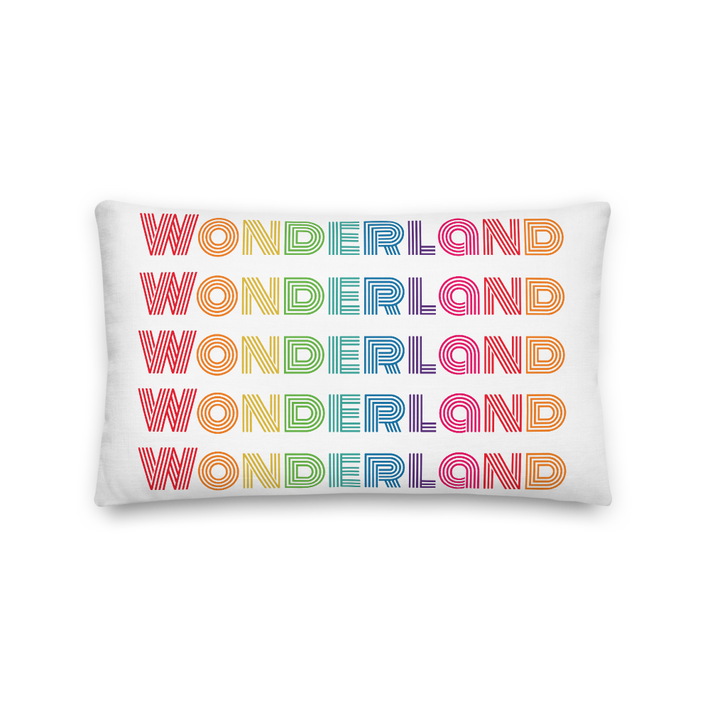 """Wonderland"" Pillow"
