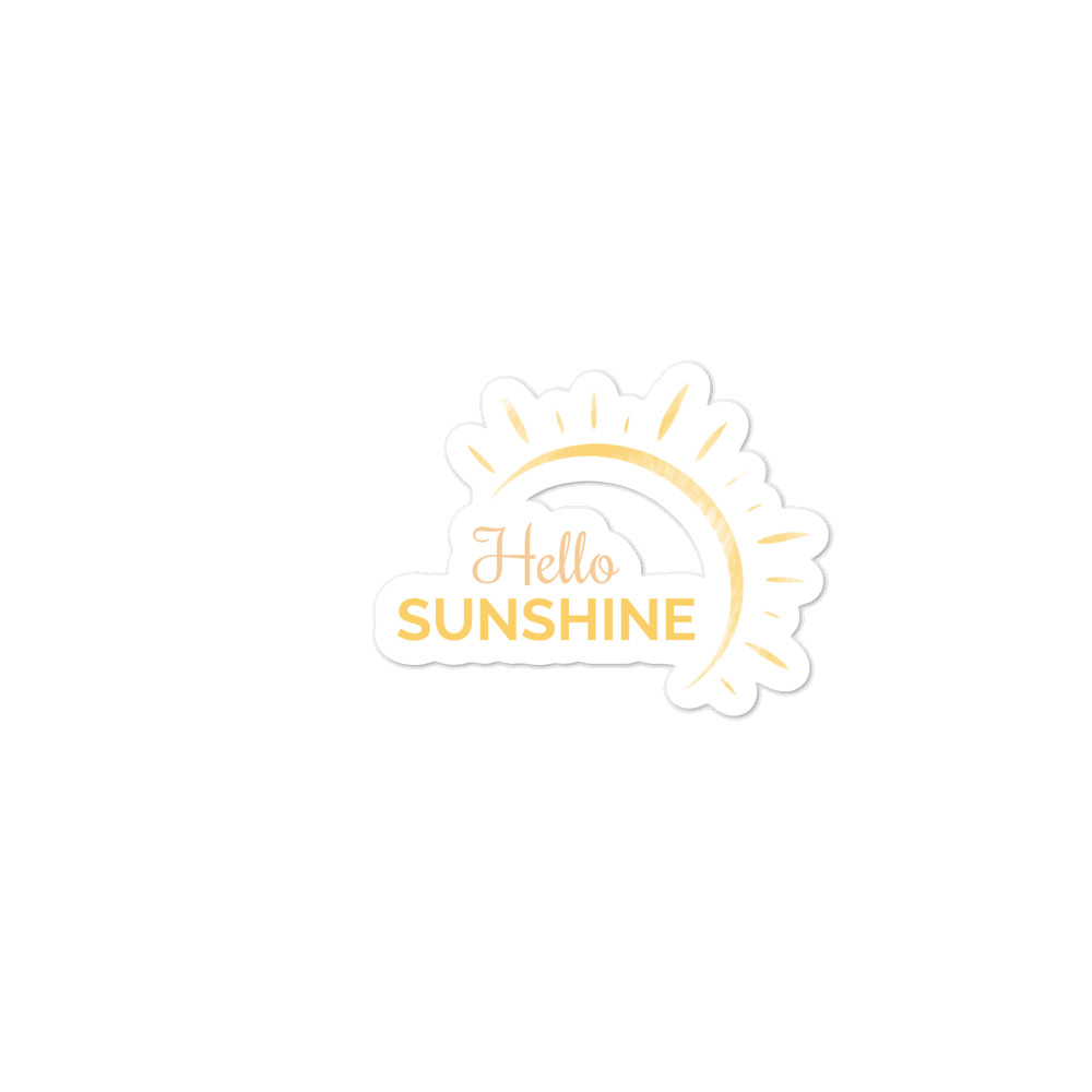 """Hello Sunshine"" Sticker"