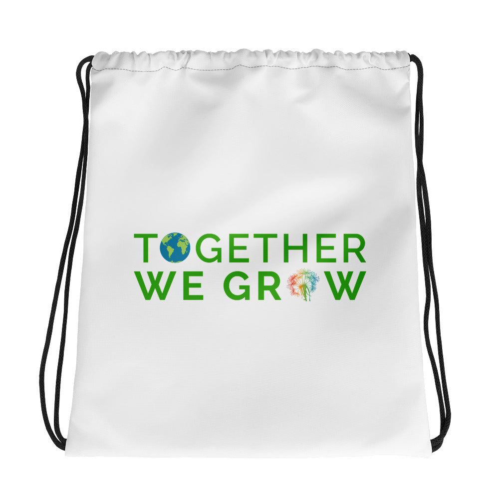Together We Grow Drawstring bag