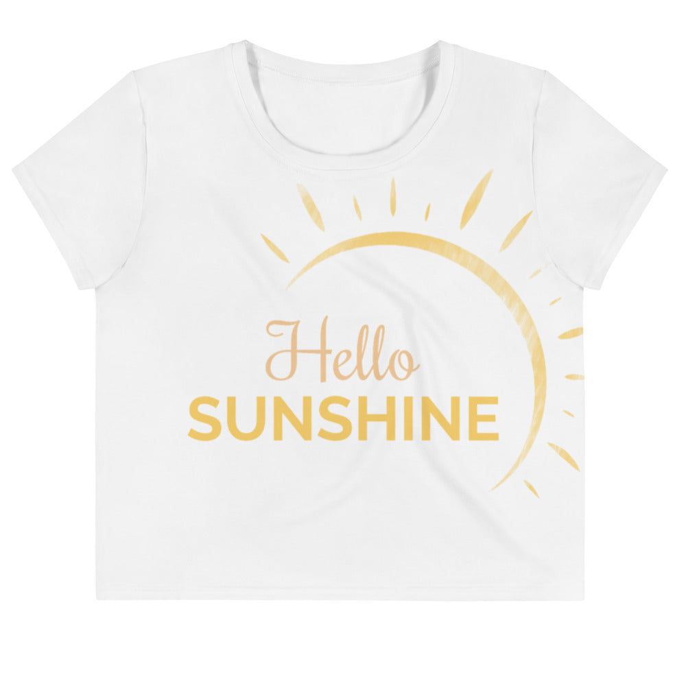 """Hello Sunshine"" Crop Tee"