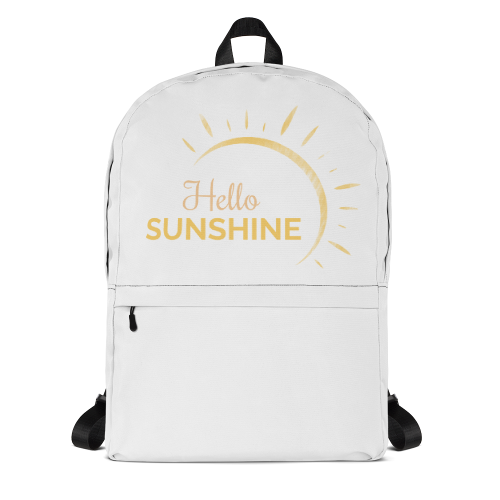 """Hello Sunshine"" Backpack"