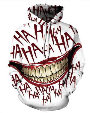 Clown Smiley Print Hoodie