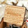 Grandma To Granddaughter - Believe In Yourself - Engraved Music Box