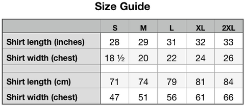 Size Guide -Unisex Eco Tee | Next Level 4600