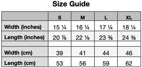 Size Guide - Youth Premium Tee - Bella - Canvas 3001Y