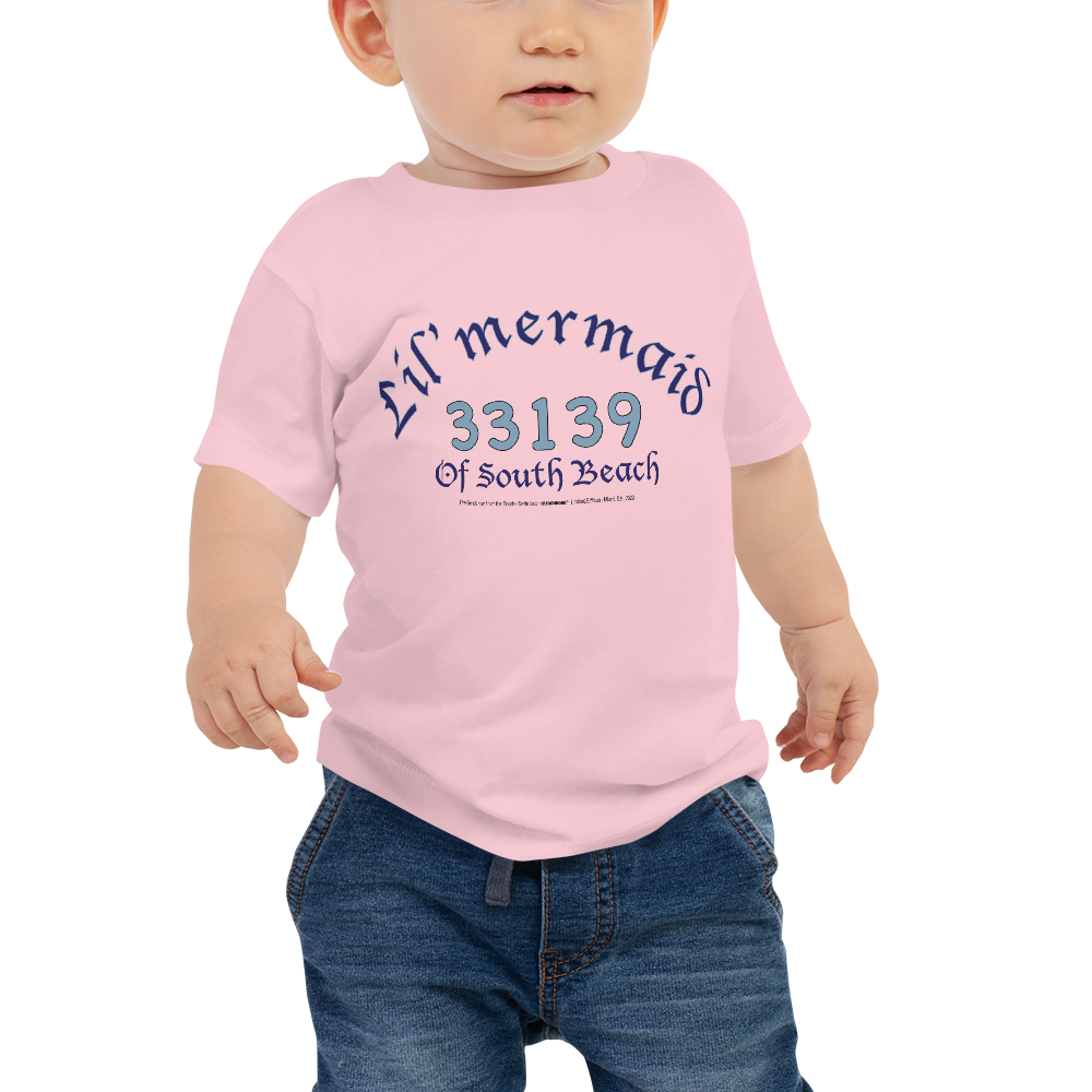 LIL' MERMAID OF SOUTH BEACH-- Baby Girl T-Shirt