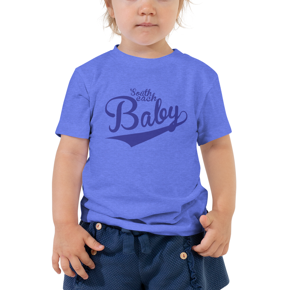 SOUTH BEACH BABY-- Short-Sleeved, Toddler T-Shirt, Royal Blue Print