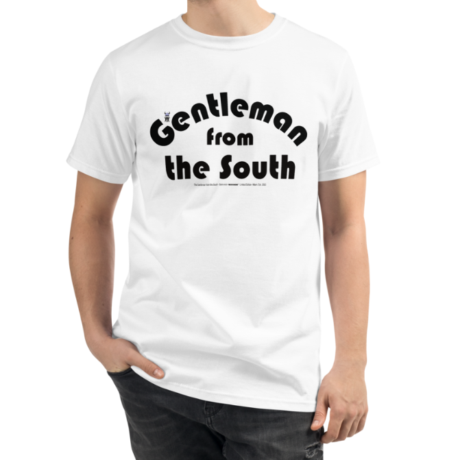 ORGANIC --GENTLEMAN FROM THE SOUTH-- Men's T-shirt  Black Print