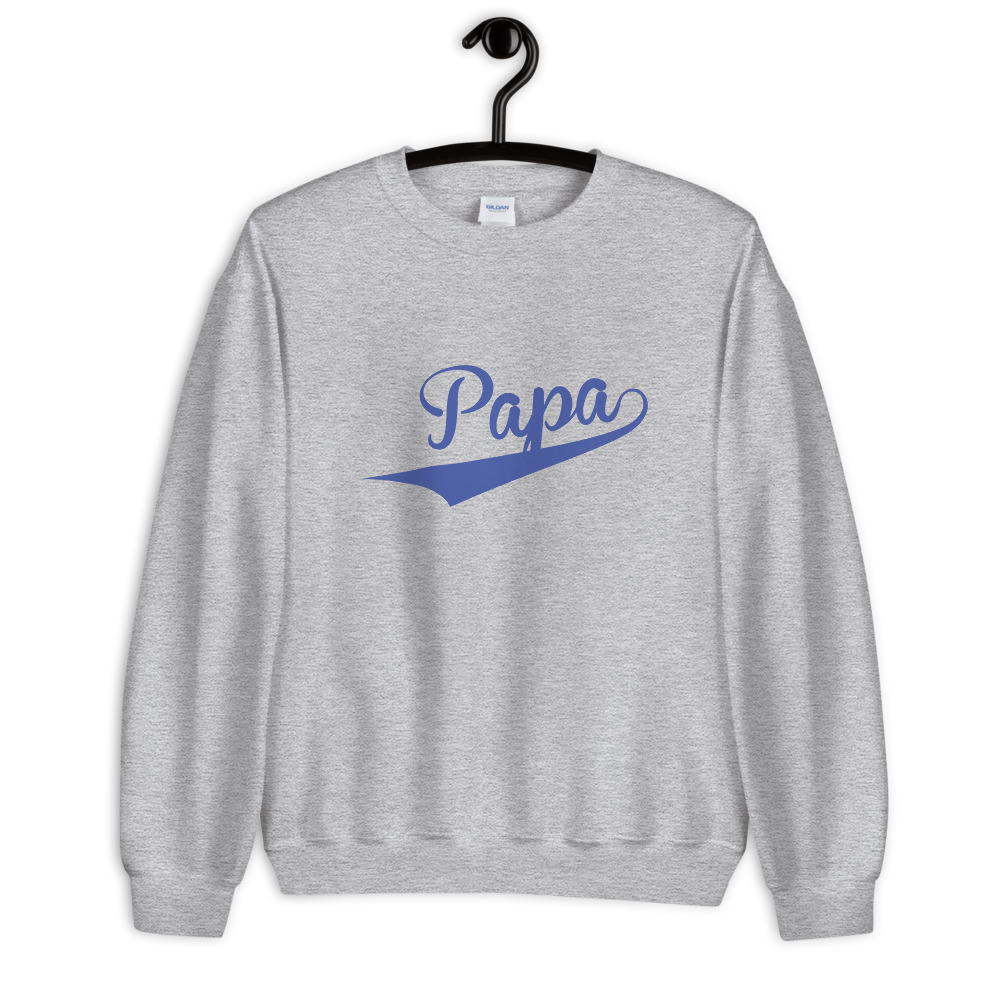 PAPA-- Men's Sweatshirt, Royal Blue Print