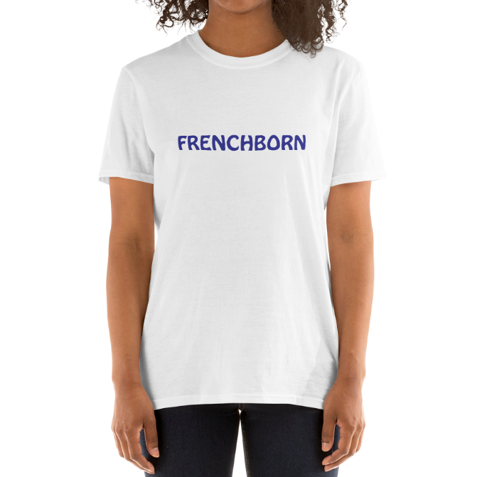 FRENCHBORN-- Unisex T-Shirt, Royal Blue Print